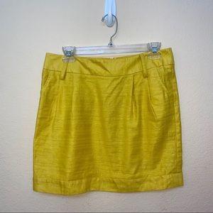 ✅ Forever 21 Yellow Linen Skirt Large